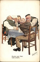 Men Drinking Around Table