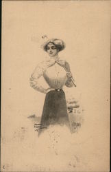 Drawing of Woman Golfer
