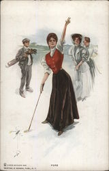 Ladies Playing Golf Fore