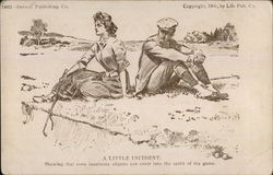 Couple Resting on Golf Course