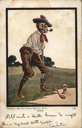 Skeleton Playing Golf