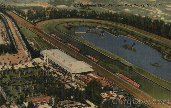 Aerial View oh Hialeah Race Course Miami Florida