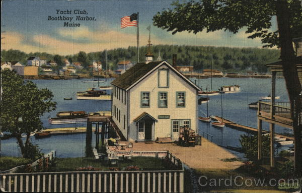 Yacht Club Boothbay Harbor Maine