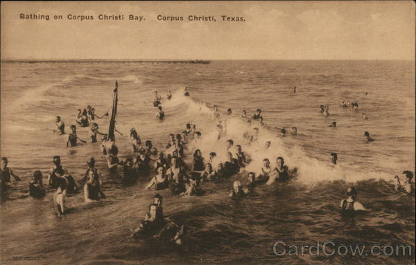 Bathing on Corpus Christi Bay Texas