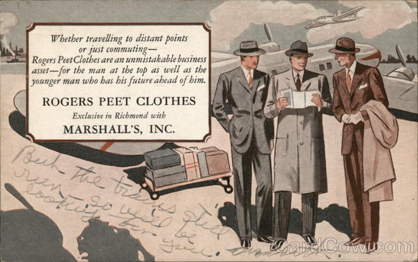 Rogers Peet Clothes, Marshall's, Inc. Richmond Virginia