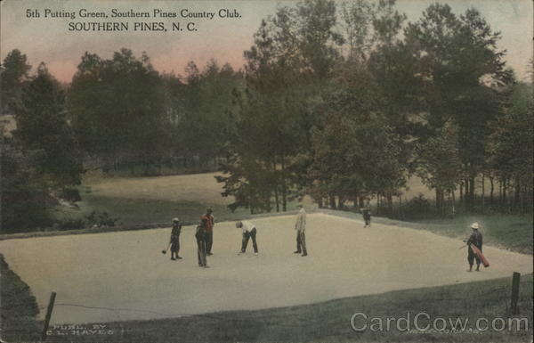 5th Putting Green, Southern Pines Country Club North Carolina