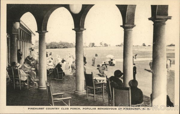 Pinehurst Country Club Porch, Popular Rendezvous North Carolina