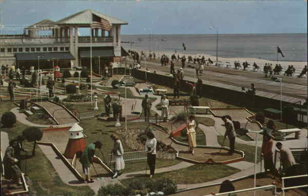 Miniature golf on the famous Boardwalk at Asbury Park, N. J. New Jersey