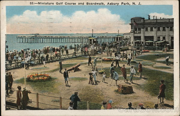 Miniature Golf Course and Boardwalk Asbury Park New Jersey