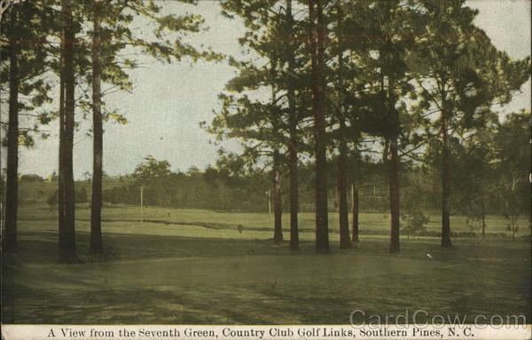 A View from the Seventh Green, Country Club Golf Links Southern Pines North Carolina