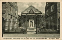 Holden Chapel and Class of 1870 Gate and Sun Dial