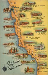 California Missions Postcard