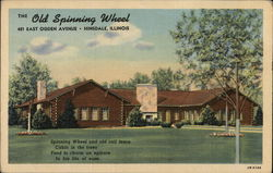 The Old Spinning Wheel Postcard