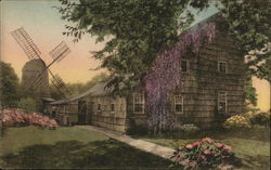 Home Sweet Home and the Old Windmill Postcard