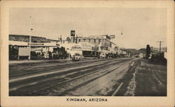 Andy Devine Street and Route 66 Through Downtown Postcard