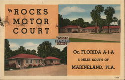 The Rocks Motor Court Postcard