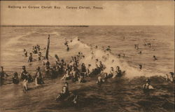 Bathing on Corpus Christi Bay