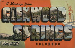 A Message from Glenwood Springs Postcard
