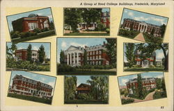 A Group of Hood College Buildings Postcard