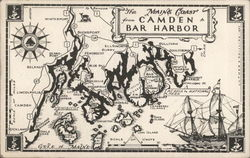 The Maine Coast from Camden to Bar Harbor Postcard