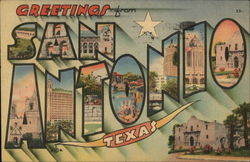 Greetings from San Antonio, Texas Postcard