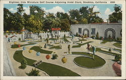 Eighteen Hole Miniature Golf Course Adjoining Hotel Clark