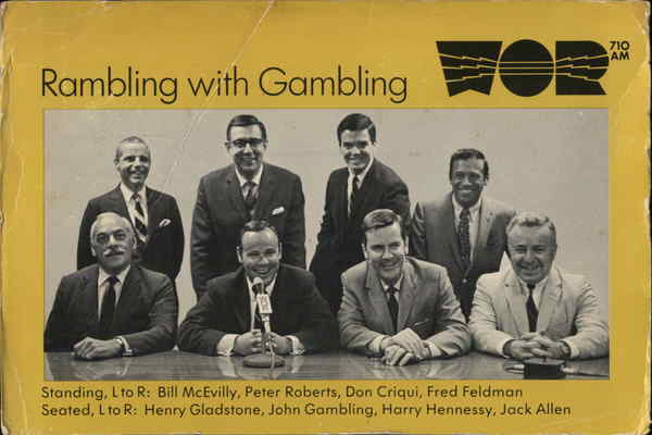 Rambling with Gambling Staff, WOR Radio New York Movie and Television Advertising