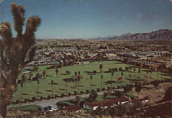 View of Town Palm Springs California