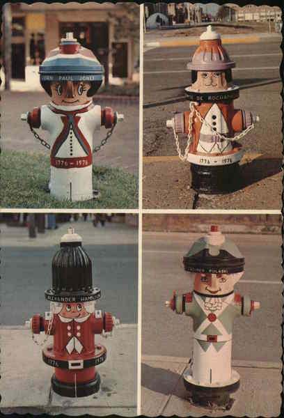 Painted Fire Hydrants South Bend Indiana