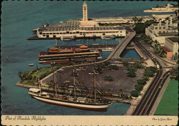 Port of Honolulu Highlights in Harbor Area - Island of Oahu Hawaii