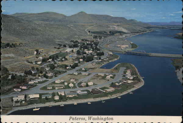 Aerial View of Town Pateros Washington