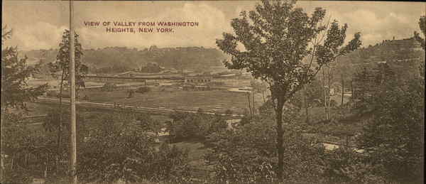 View of Valley from Washington Heights New York