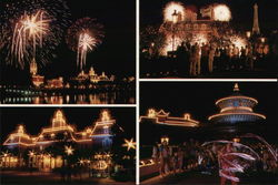 Illumination, World Showcase, Epcot Center Postcard
