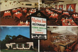 Alpine Inn Restaurant Postcard