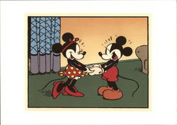 Mickey and Minnie Hold Hands