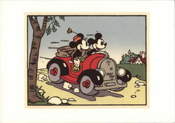 Mickey Takes Minnie for a Drive in his Car
