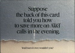 AT&T Advertising - Suppose the back of this card told you how to save more