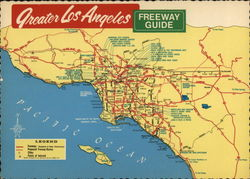 Greater Los Angeles Freeway Guide Map