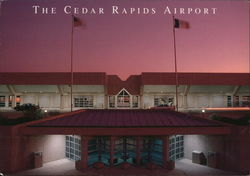 The Cedar Rapids Airport at sunset.