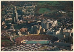 University of Pittsburgh - Pitt Stadium and Cathedral of Learning Postcard