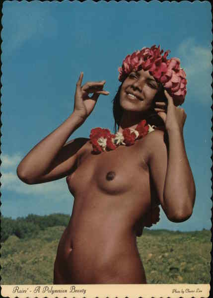 Raire' - A Typical Polynesian Beauty Risque & Nude