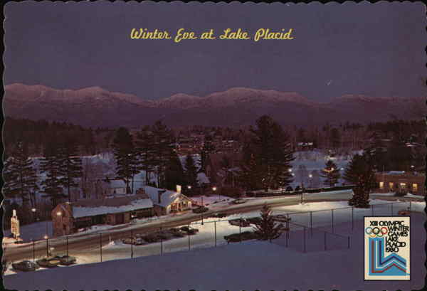 Winter Eve at Lake Placid New York Olympics