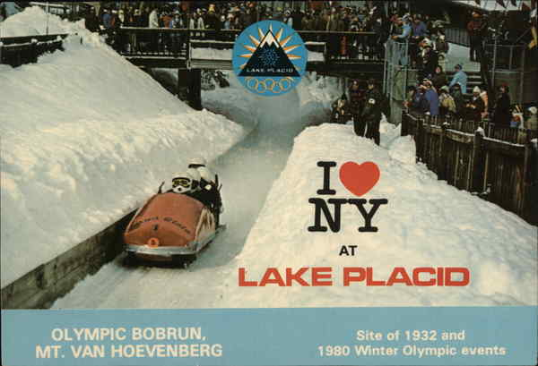 Olympic Bobrun, Mt. Van Hoevenberg Lake Placid New York