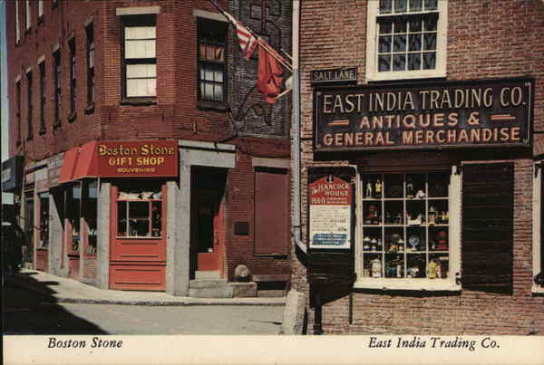 Boston Stone Gift Shop and East India Trading Co. Massachusetts