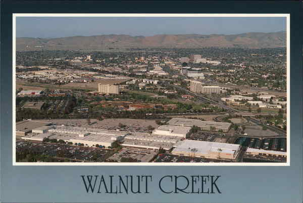 Aerial View of Town Walnut Creek California
