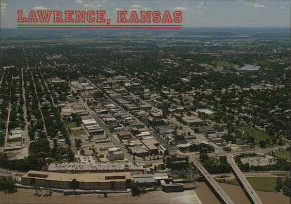 Aerial View of City Lawrence Kansas