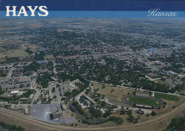 Aerial View Hays Kansas