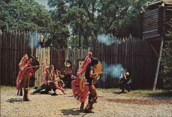 Indians and Cowboys at the Fort Silver Springs Florida