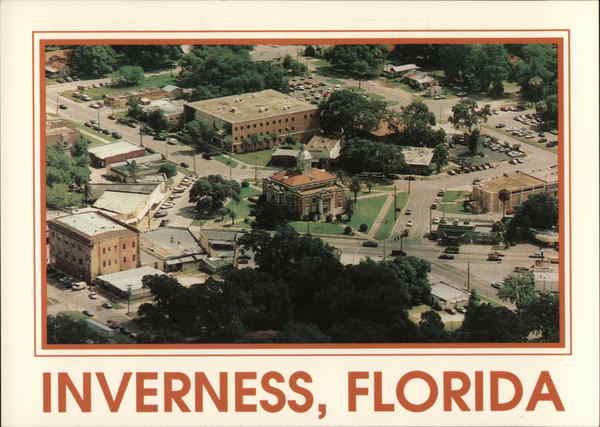 Aerial View fo Downtown Inverness Florida