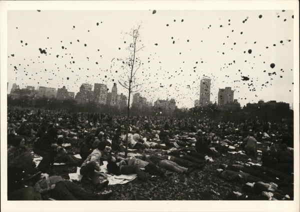 Peace Demonstration, Central Park 1970 New York